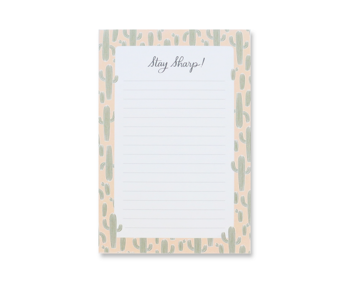 stay sharp notepad