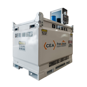 1100L CEA CUBE Self Bunded Tank fitted with Piusi ST Box 240V Diesel Dispensing System