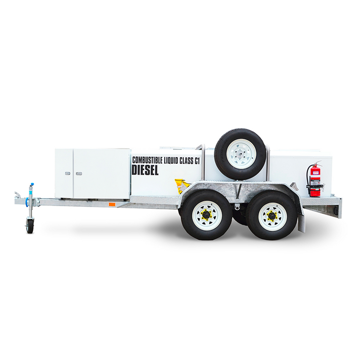 FUEL TRAILER CEA 2000L Self Bunded Low Profile Galvanised Dual Axle
