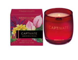 Stoneglow Infusions Captivate - Cassis & Cherry Blossom Candle