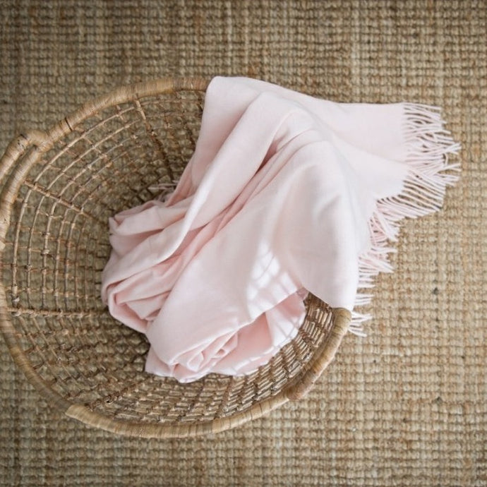 Melody Plain Rose Quartz Throw 150cm x 200cm