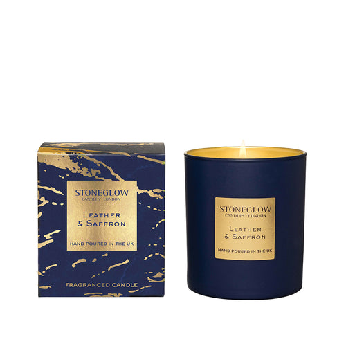 Luna - Leather & Saffron Candle