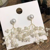 Freshwater Pearl branches stud earrings