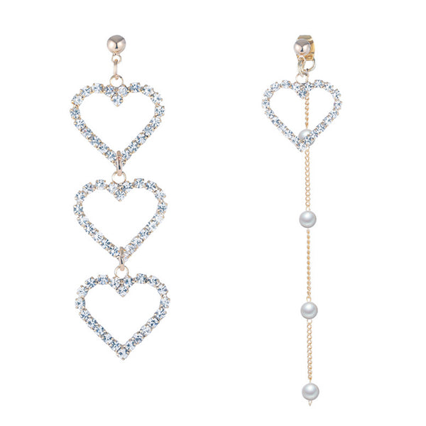 14 ct Gold Plated Heart Drop Earings with Freshwater Pearls