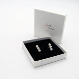 French style earring with 3 freshwater pearls on each. 14ct Gold Plate