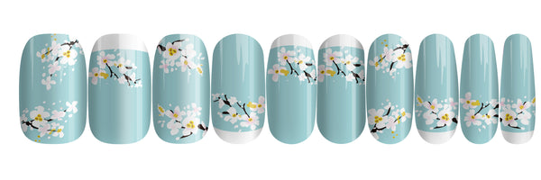 Cherry Blossom - nail wraps - a salon finish without a manicure