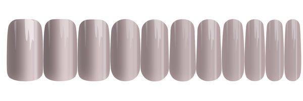 Ceramic Grey - nail wraps - a salon finish without a manicure
