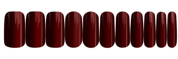 Cherry Red - nail wraps - a salon finish without a manicure