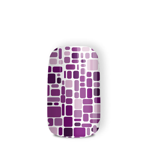 Purple Maze - nail wraps - a salon finish without a manicure
