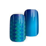 Mermaid - nail wraps - a salon finish without a manicure