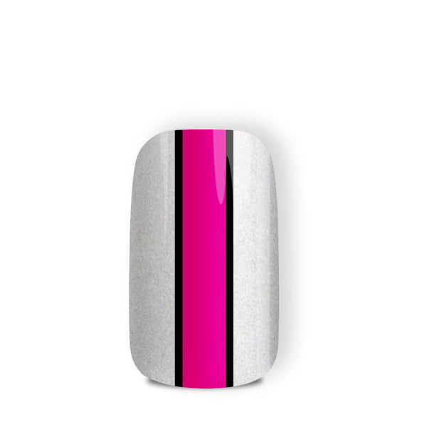 Liquorice Allsort - nail wraps - a salon finish without a manicure