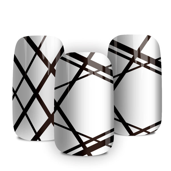Black Ribbon - nail wraps - a salon finish without a manicure