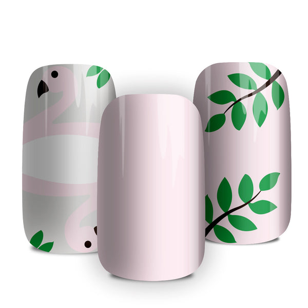 Flamingo - nail wraps - a salon finish without a manicure
