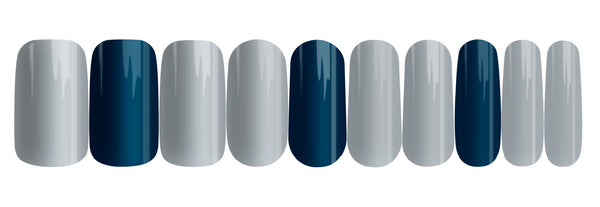 Moody Blues - nail wraps - a salon finish without a manicure