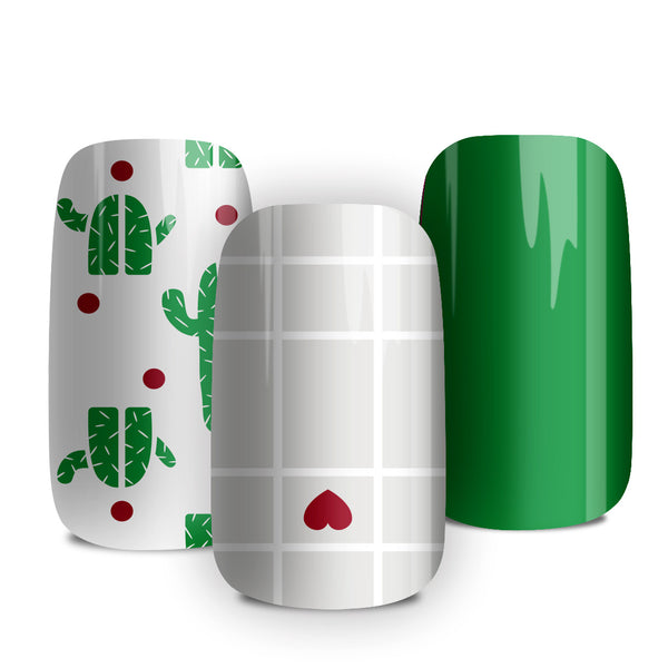 Cactus Love - nail wraps - a salon finish without a manicure