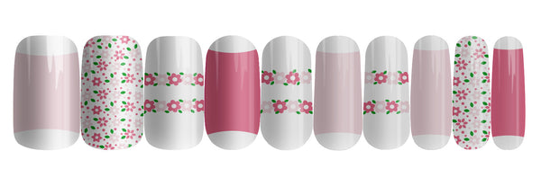 Fresh Flowers - nail wraps - a salon finish without a manicure