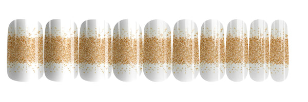 Champagne Gold - nail wraps - a salon finish without a manicure