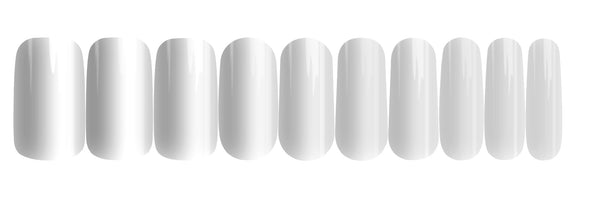 Pure White - nail wraps - a salon finish without a manicure