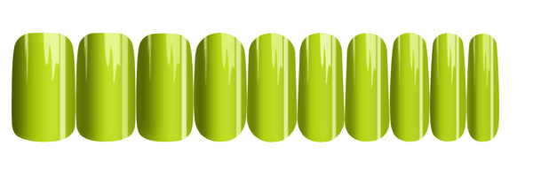 Lime - nail wraps - a salon finish without a manicure