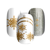 Xmas Gold Flakes - nail wraps - a salon finish without a manicure
