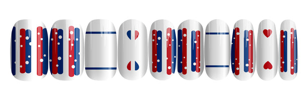 Paris In Love - nail wraps - a salon finish without a manicure