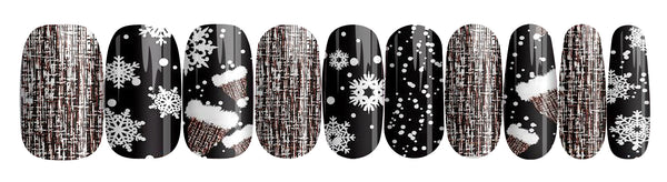 Black Xmas - nail wraps - a salon finish without a manicure