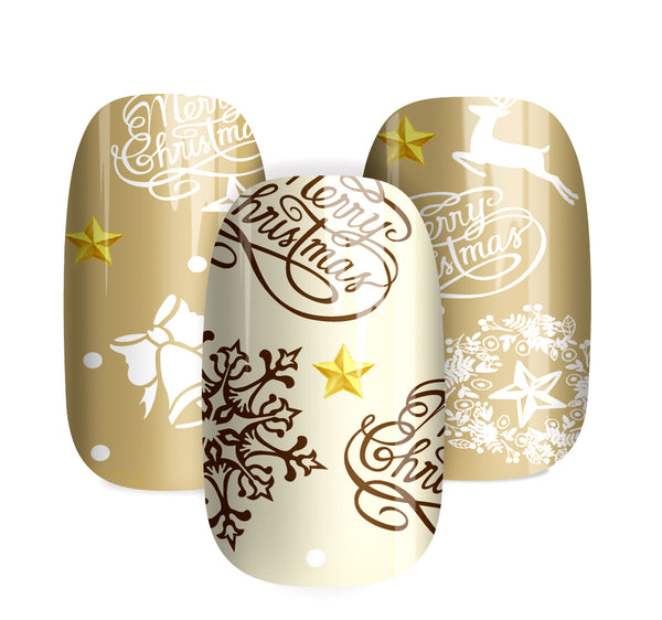 Gold Star - nail wraps - a salon finish without a manicure
