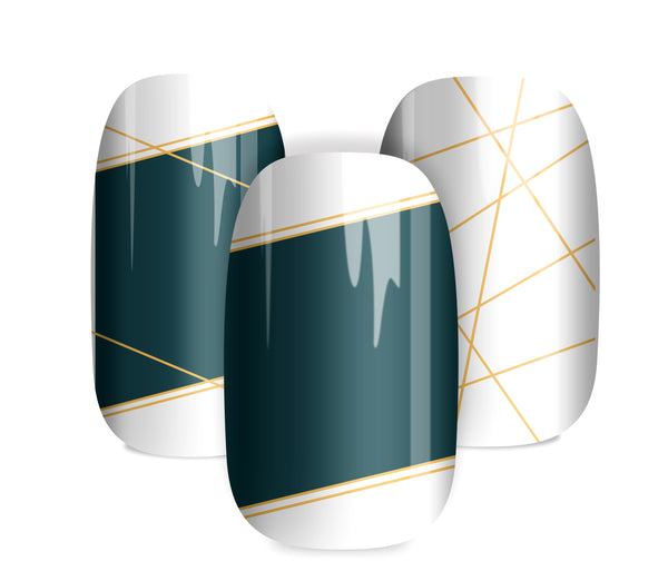 Gold Lines - nail wraps - a salon finish without a manicure