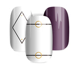 White with shapes - nail wraps - a salon finish without a manicure