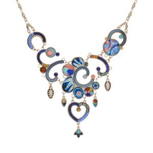 Seeka Blue Velvet Necklace #1832509