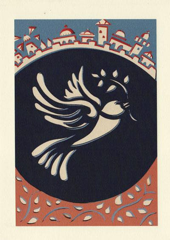 The Papercut Dove New Year Cards