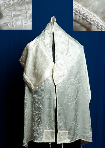 Tallit ADE 118 - Ivory Embroidered