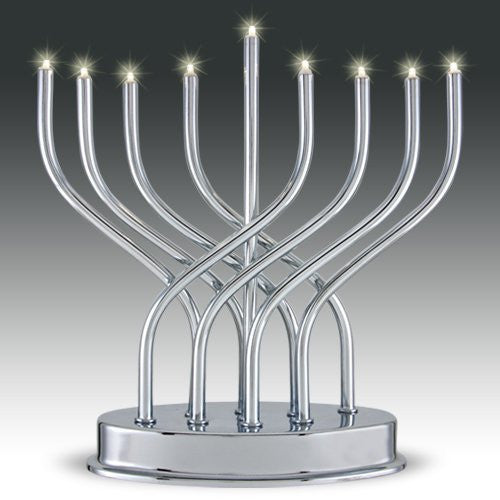 Battery Operated LED Menorah-Item#9660
