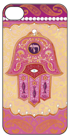 IPhone Case- Pink Hamsa