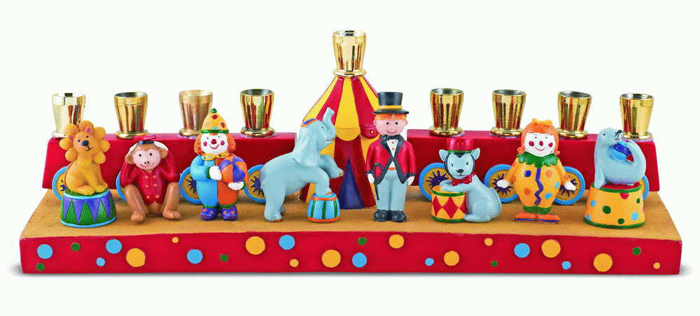 Circus Menorah-Item#AV24002