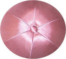 Deluxe Satin Yarmulkes-(priced per dozen)-Light Pink