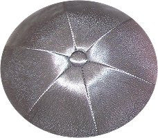 Deluxe Satin Yarmulkes-(priced per dozen)-Medium Grey