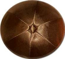 Deluxe Satin Yarmulkes-(priced per dozen)-Brown