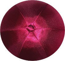 Deluxe Satin Yarmulkes-(priced per dozen)-Burgundy