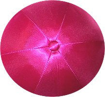 Deluxe Satin Yarmulkes-(priced per dozen)-Hot Pink