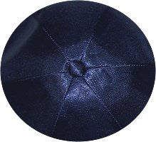 Deluxe Satin Yarmulkes-(priced per dozen)-Navy