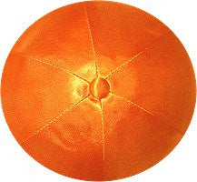 Deluxe Satin Yarmulkes-(priced per dozen)-Orange