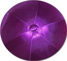 Deluxe Satin Yarmulkes-(priced per dozen)-Dark Purple