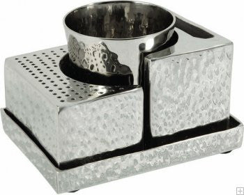 Emanuel Havdalah Set-Hammered Nickel-Item#HAB-1
