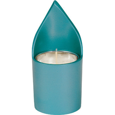 Emanuel Memorial Candle Holder-Turquoise Anodized Aluminum-Item#NNM-4