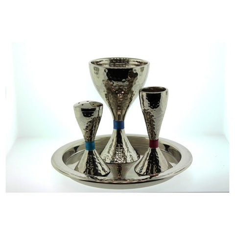 Emanuel Havdalah Set-Hammered Nickel/Colors-Item#HVC-1