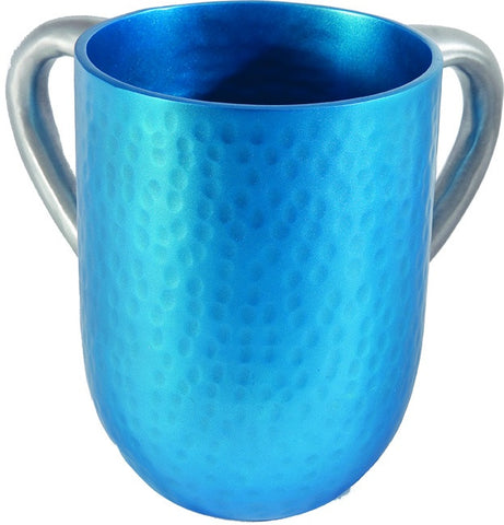 Emanuel Wash Cup-Turquoise Hammered Anodized Aluminum-Item#NYA-5