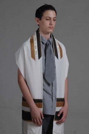 Eretz Men's Tallit Set-Item#T-1404A
