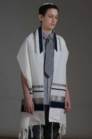 Eretz Men's Tallit Set-Item#T-1520