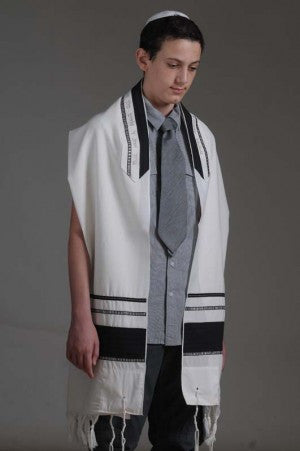 Eretz Men's Tallit Set-Item#T-1914B